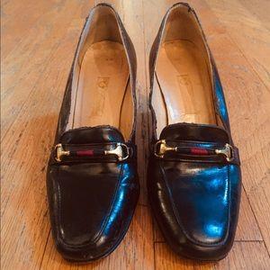 Vintage Gucci Pumps Black Leather Sz 34.5
